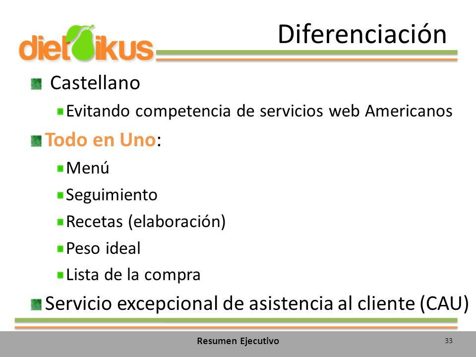 Diferenciación Castellano Todo en Uno: