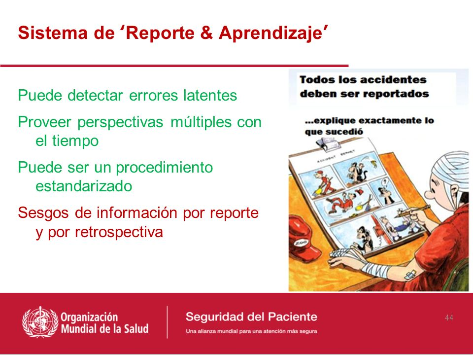 Sistema de 'Reporte & Aprendizaje'