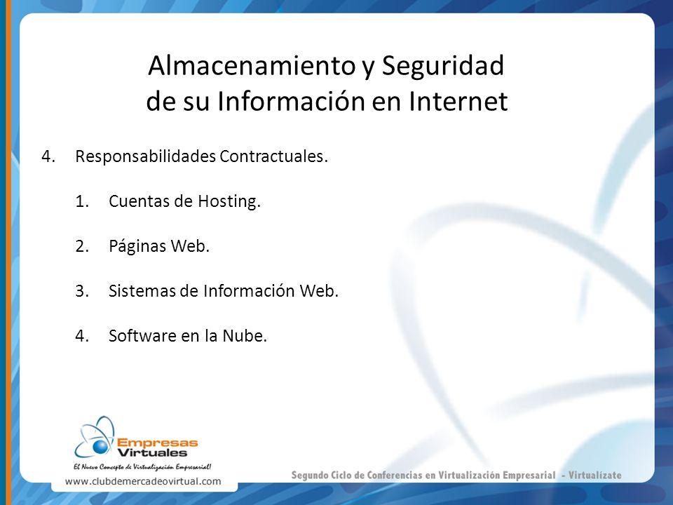 Almacenamiento y Seguridad de su Información en Internet