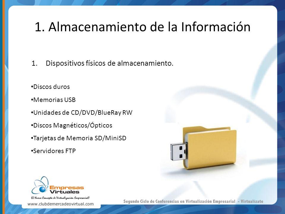 1. Almacenamiento de la Información