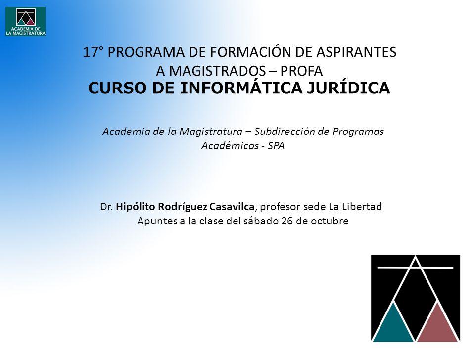 CURSO DE INFORMÁTICA JURÍDICA