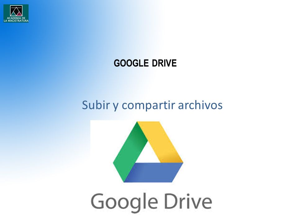 Subir y compartir archivos