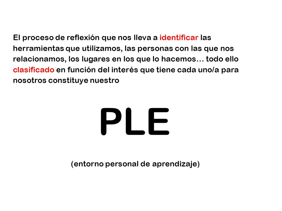 (entorno personal de aprendizaje)