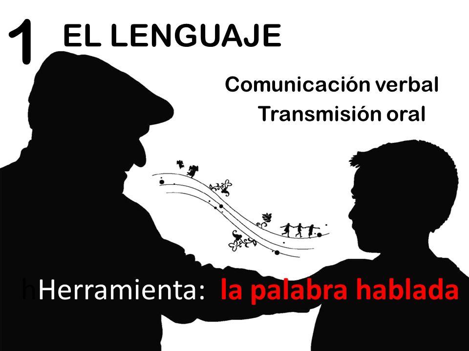 1 EL LENGUAJE hHerramienta: la palabra hablada Comunicación verbal