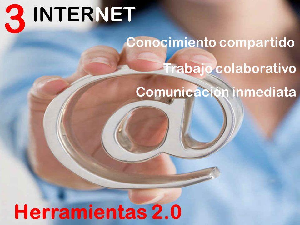 3 INTERNET Herramientas 2.0 Conocimiento compartido