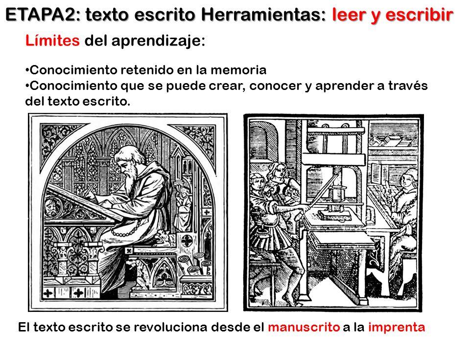 ETAPA2: texto escrito Herramientas: leer y escribir