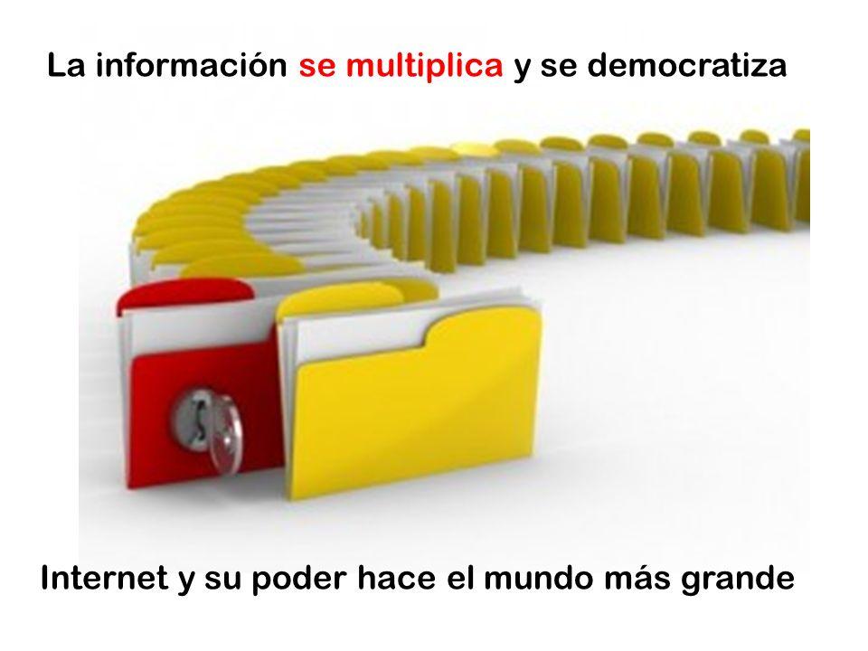 La información se multiplica y se democratiza