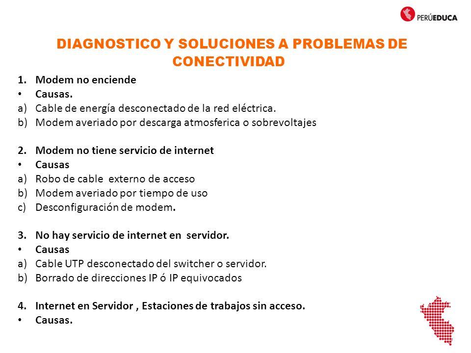 DIAGNOSTICO Y SOLUCIONES A PROBLEMAS DE CONECTIVIDAD
