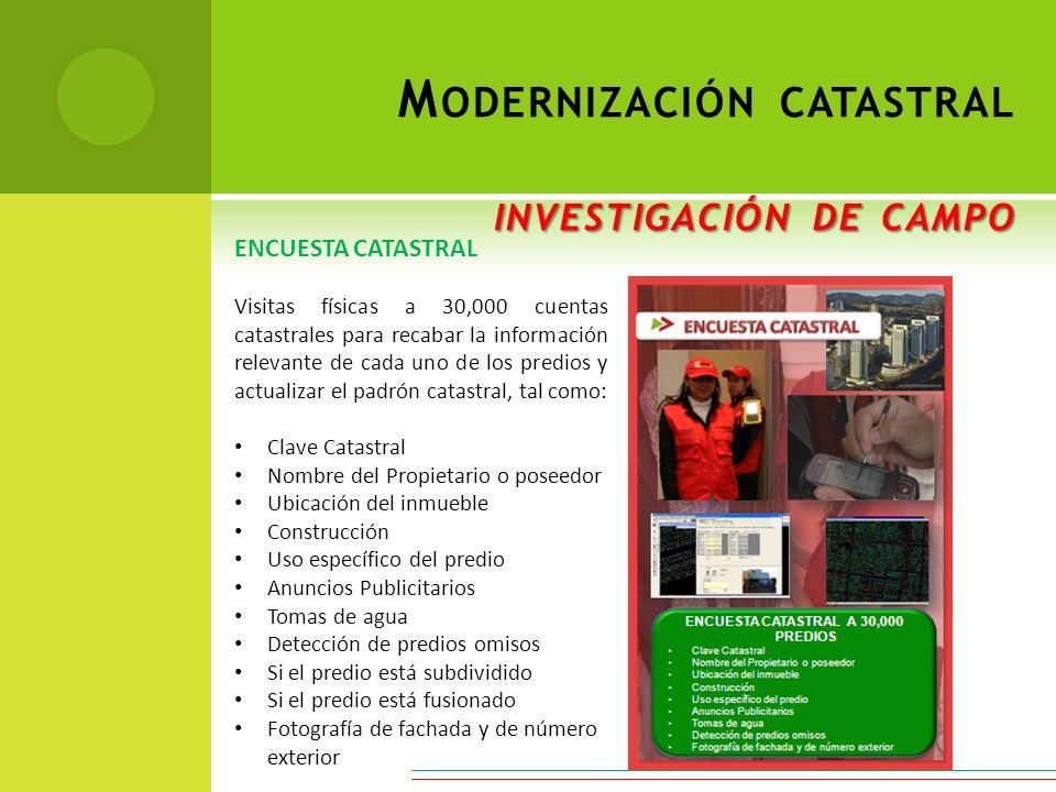 Modernización catastral investigación de campo