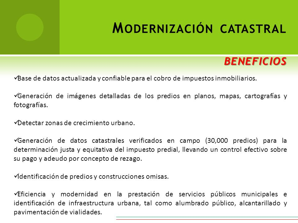 Modernización catastral beneficios
