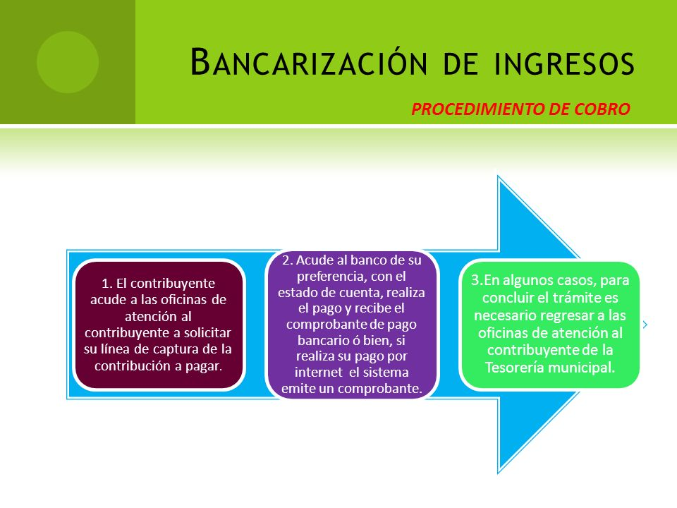 Bancarización de ingresos