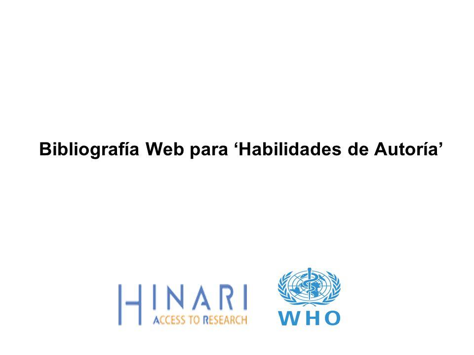 Bibliografía Web para 'Habilidades de Autoría'