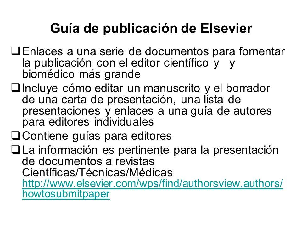 Guía de publicación de Elsevier