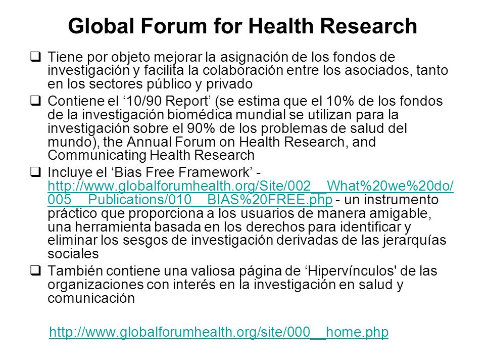Global Forum for Health Research
