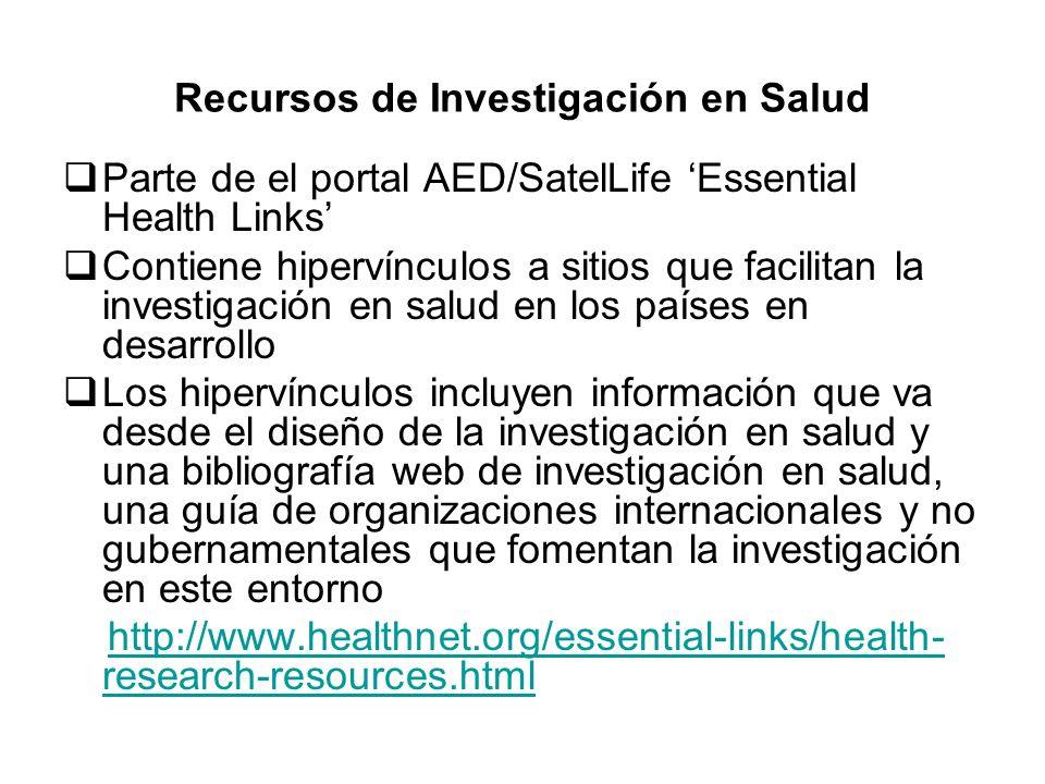 Recursos de Investigación en Salud