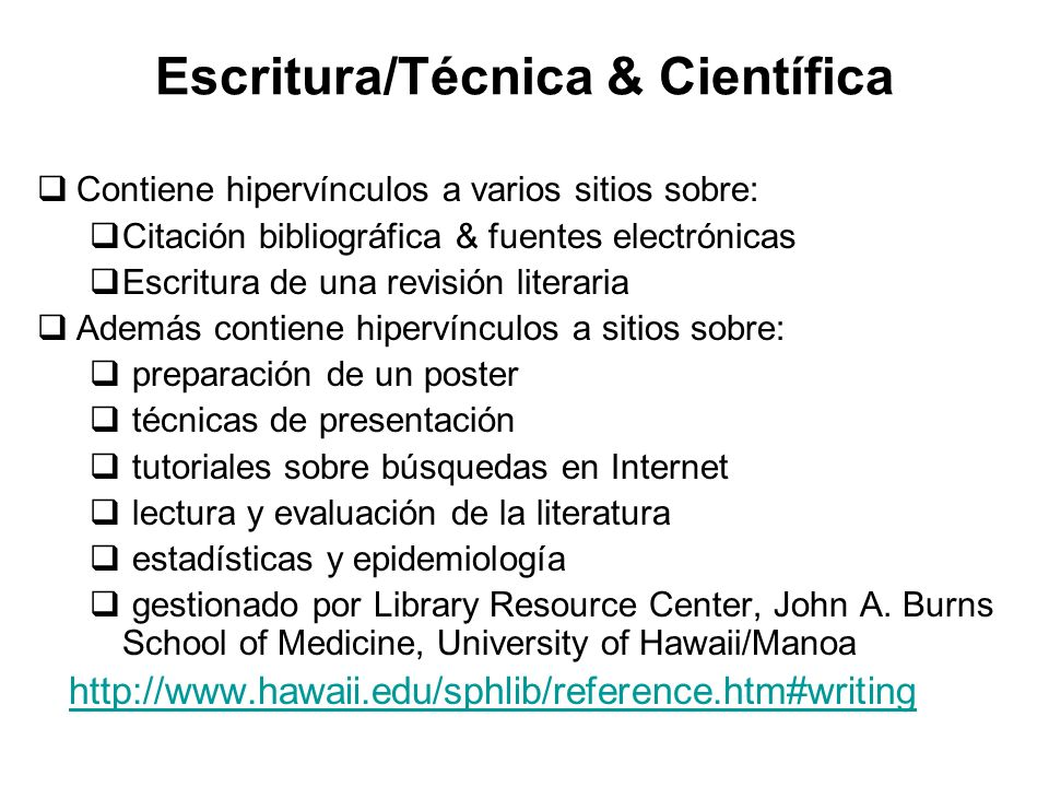 Escritura/Técnica & Científica