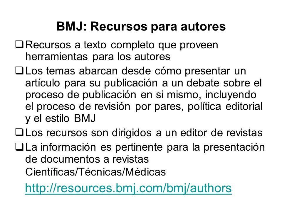 BMJ: Recursos para autores