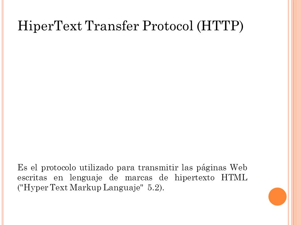 HiperText Transfer Protocol (HTTP)