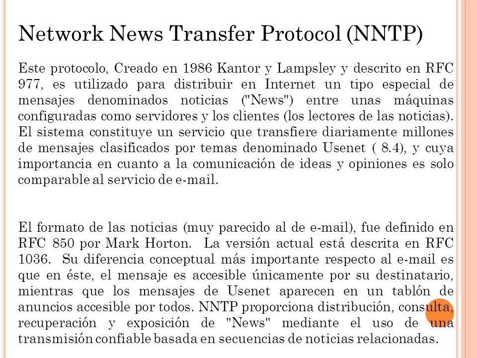 Network News Transfer Protocol (NNTP)