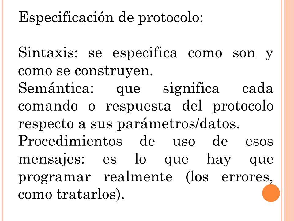 Especificación de protocolo: