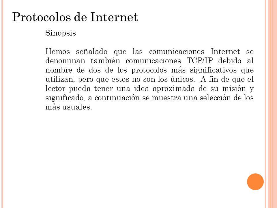 Protocolos de Internet