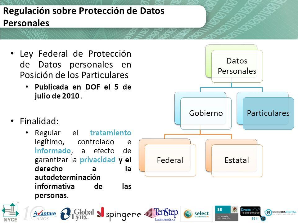 Regulación sobre Protección de Datos Personales
