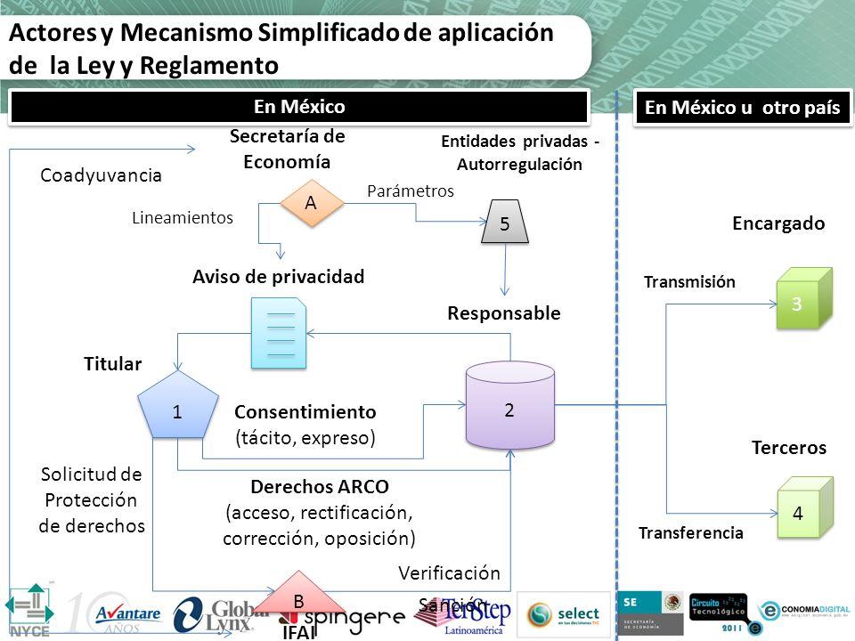 Actores y Mecanismo Simplificado de aplicación de la Ley y Reglamento