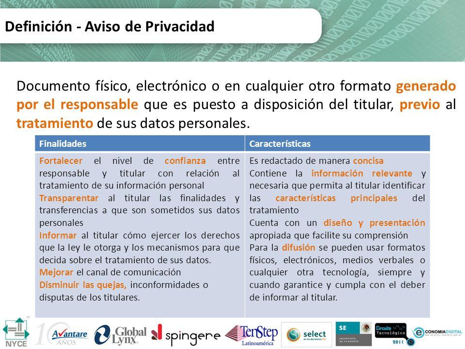 Definición - Aviso de Privacidad