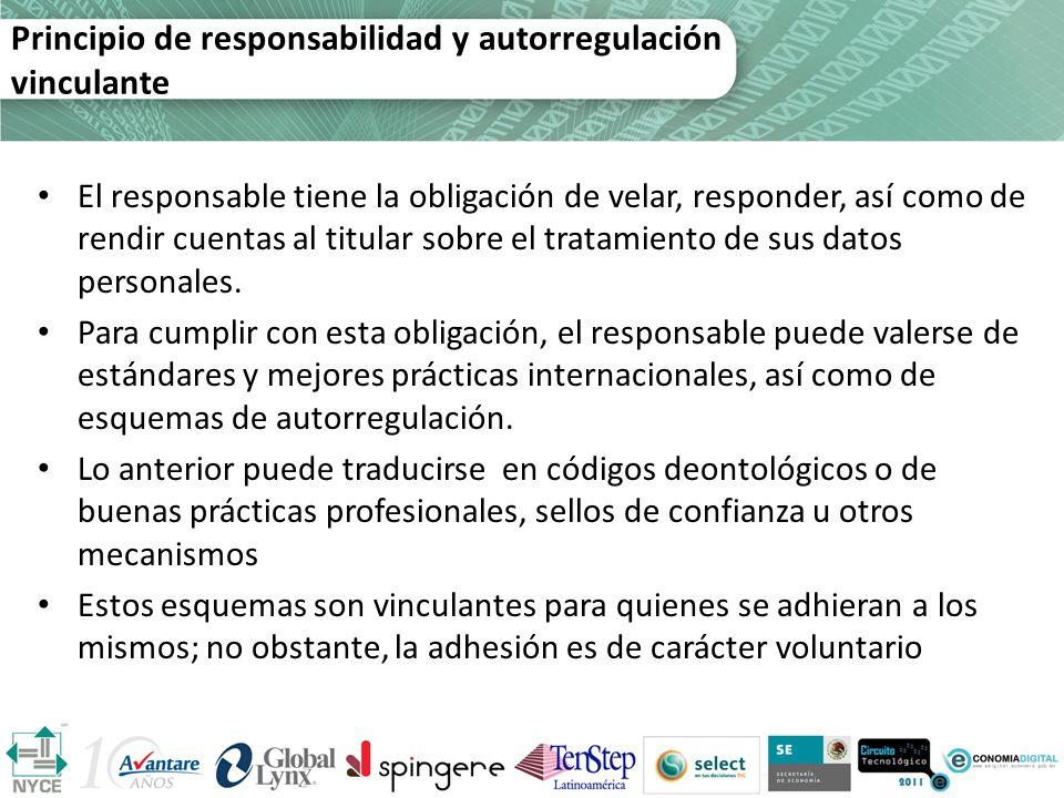 Principio de responsabilidad y autorregulación vinculante