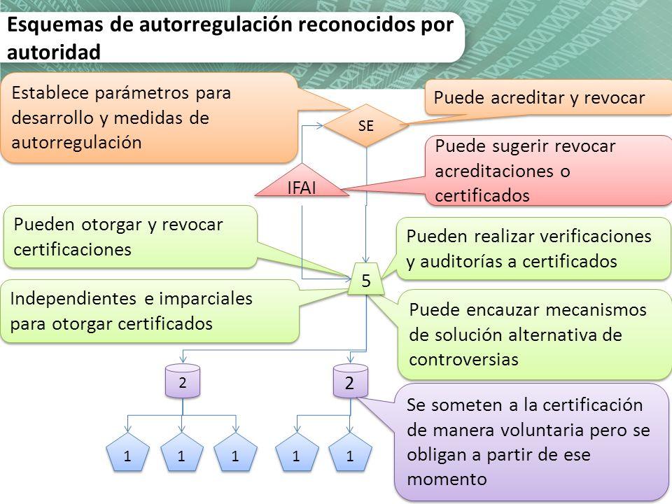 Esquemas de autorregulación reconocidos por autoridad