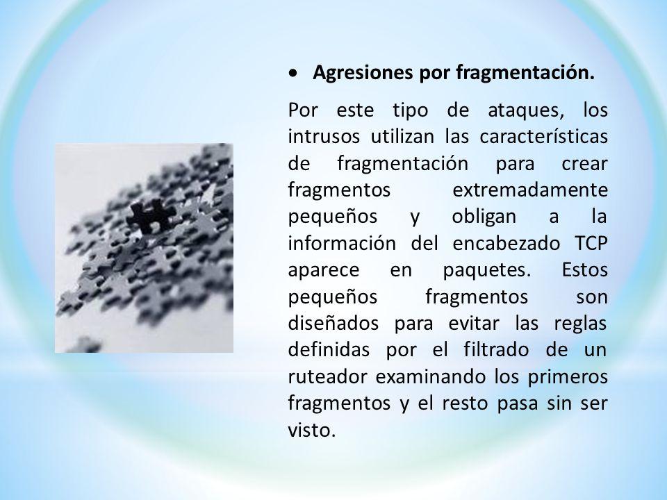 Agresiones por fragmentación.