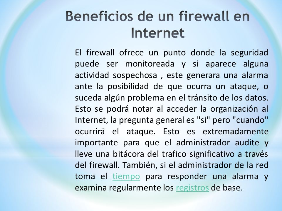Beneficios de un firewall en Internet