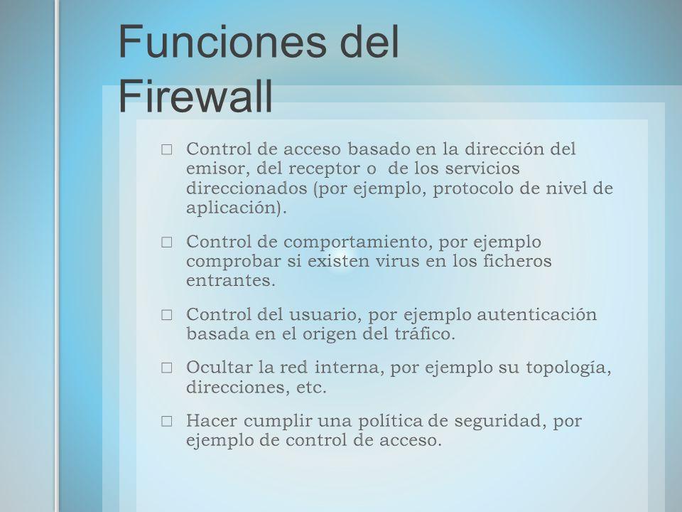 Funciones del Firewall