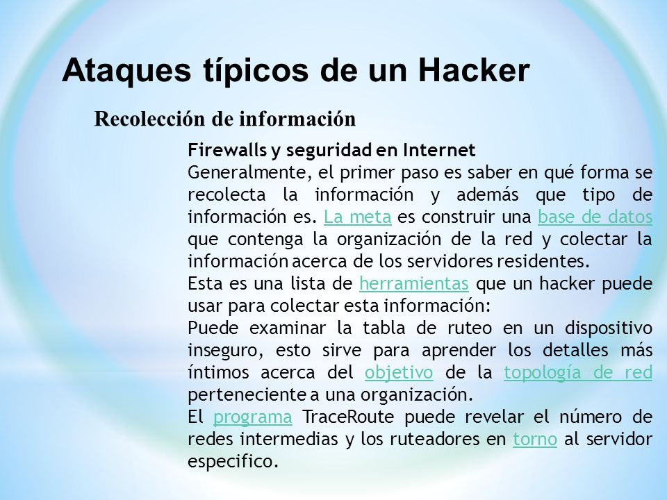 Ataques típicos de un Hacker