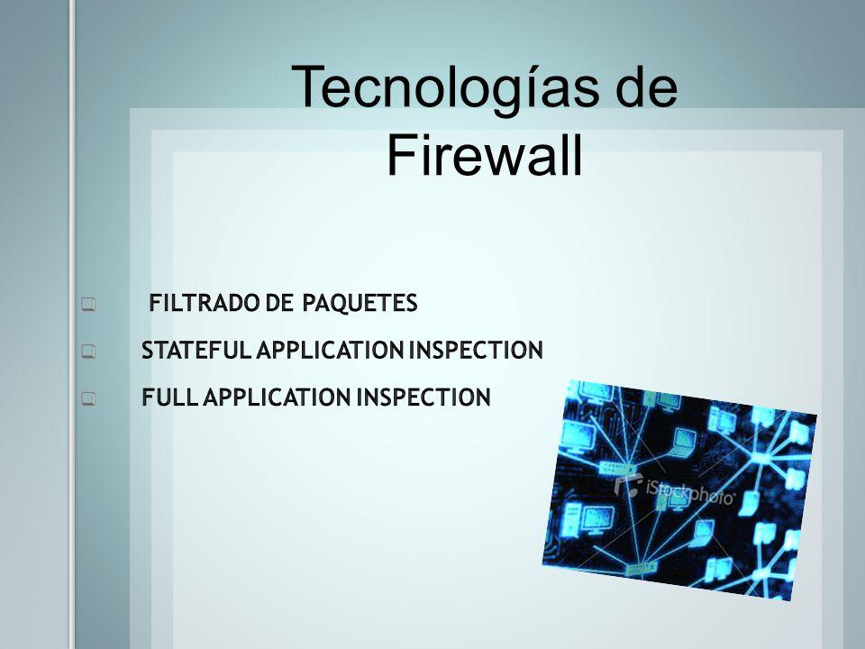 Tecnologías de Firewall
