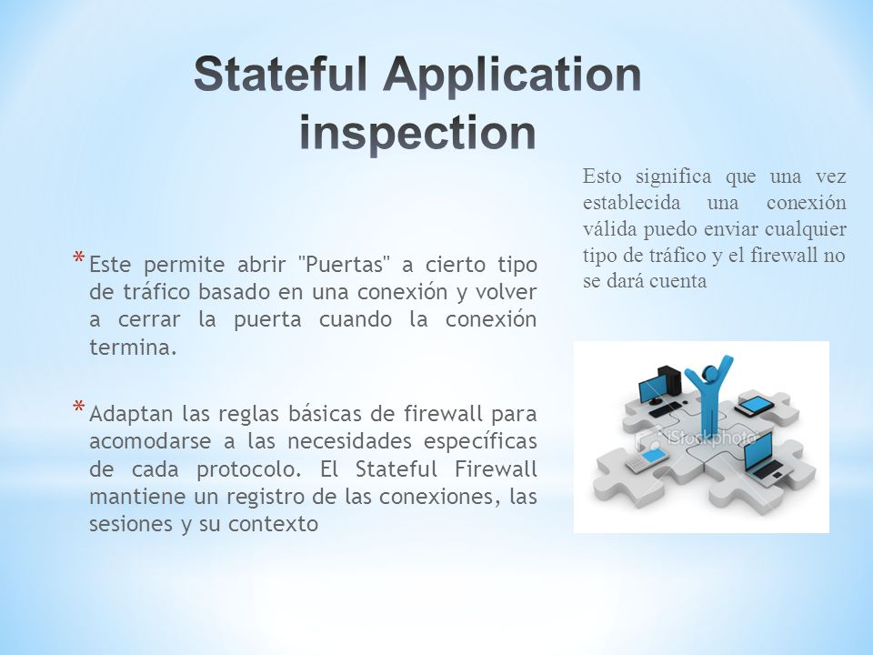 Stateful Application inspection