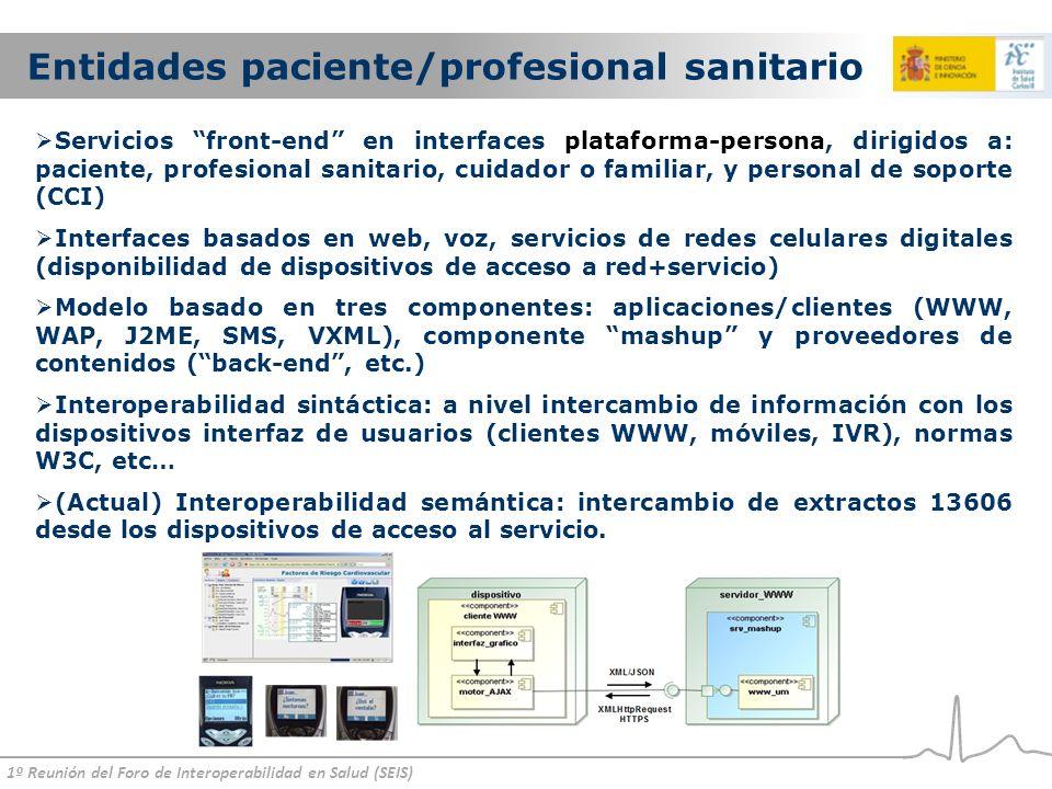 Entidades paciente/profesional sanitario