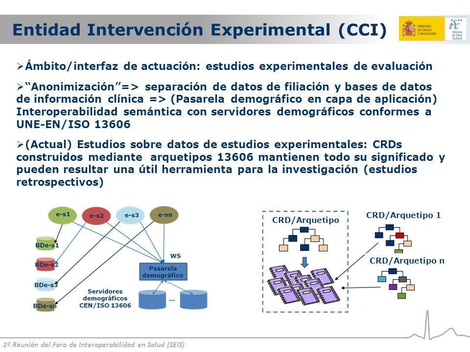 Entidad Intervención Experimental (CCI)