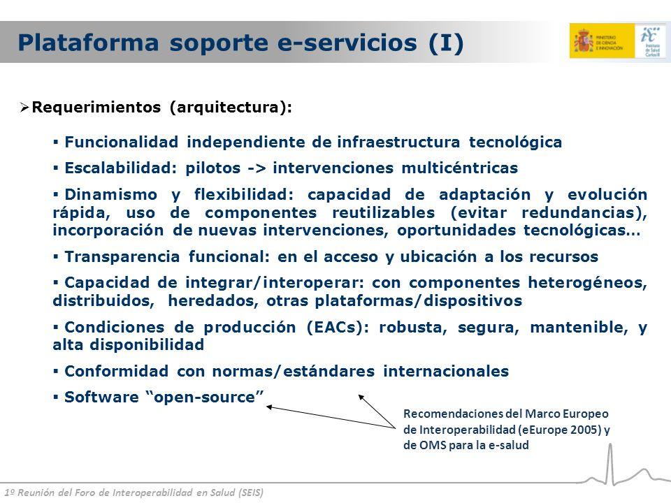 Plataforma soporte e-servicios (I)