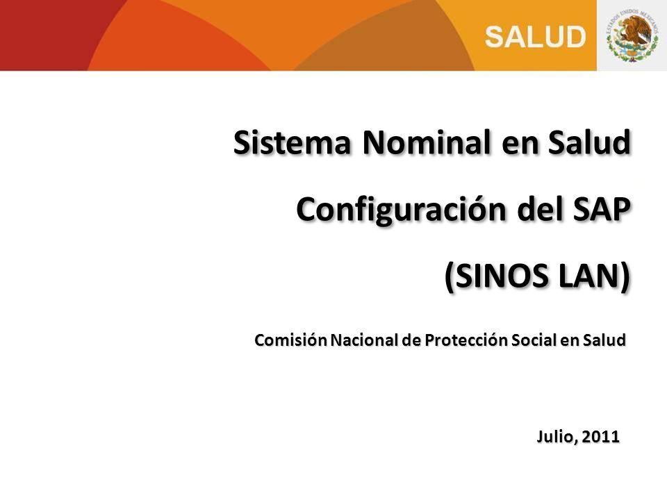 Sistema Nominal en Salud Configuración del SAP (SINOS LAN)