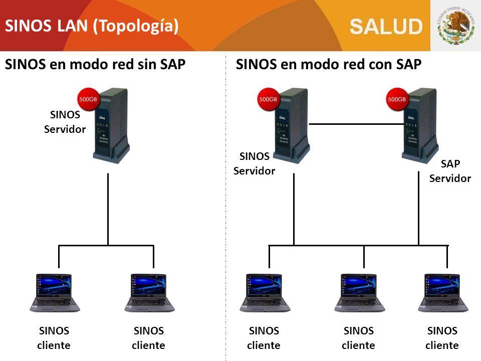 SINOS LAN (Topología) SINOS en modo red sin SAP