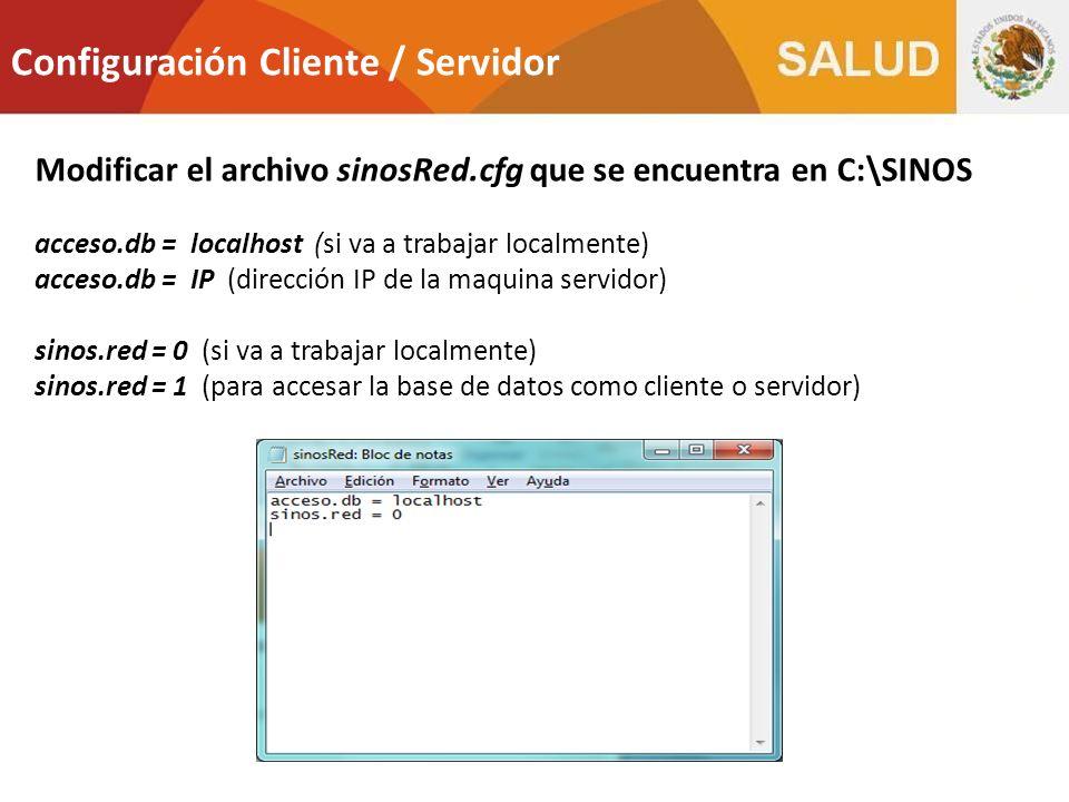 Configuración Cliente / Servidor