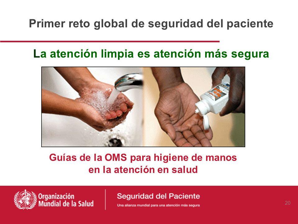 Guías de la OMS para higiene de manos
