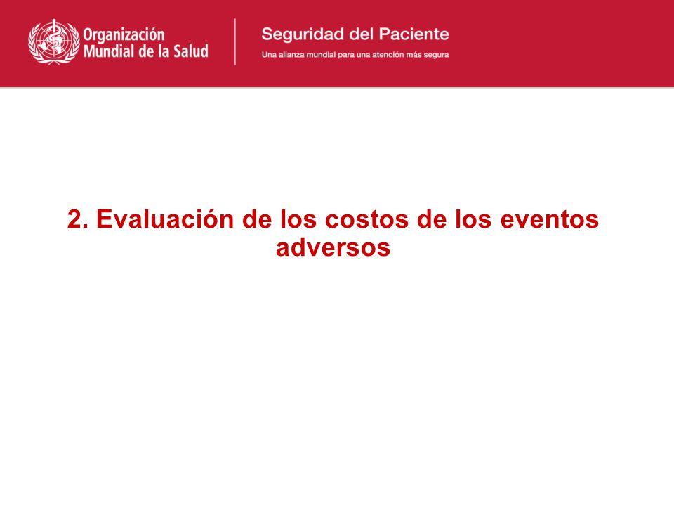 2. Evaluación de los costos de los eventos adversos