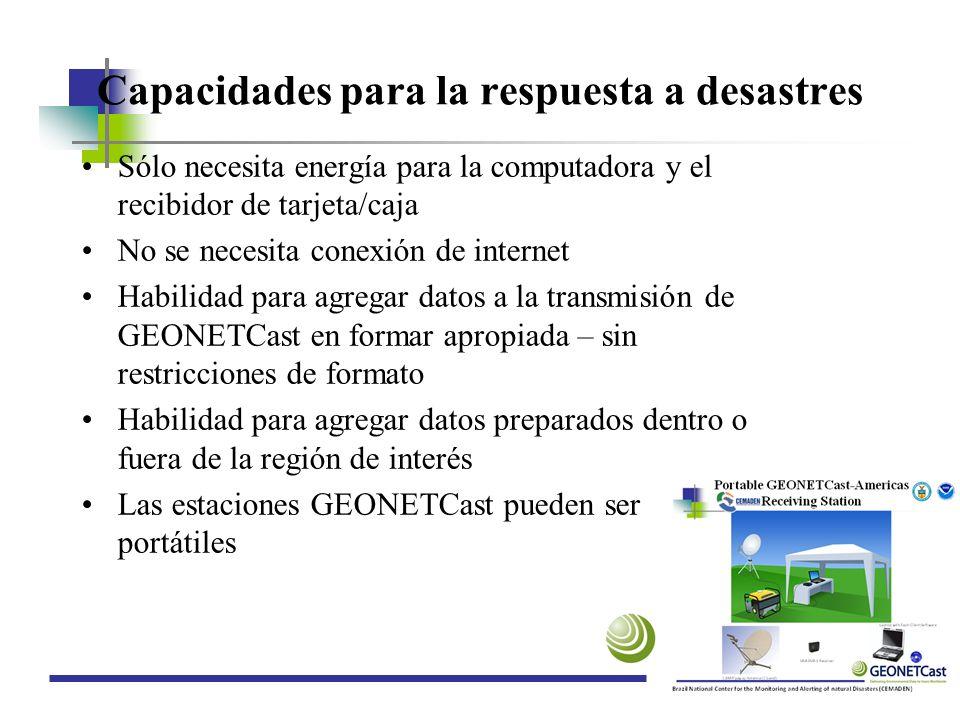 Capacidades para la respuesta a desastres