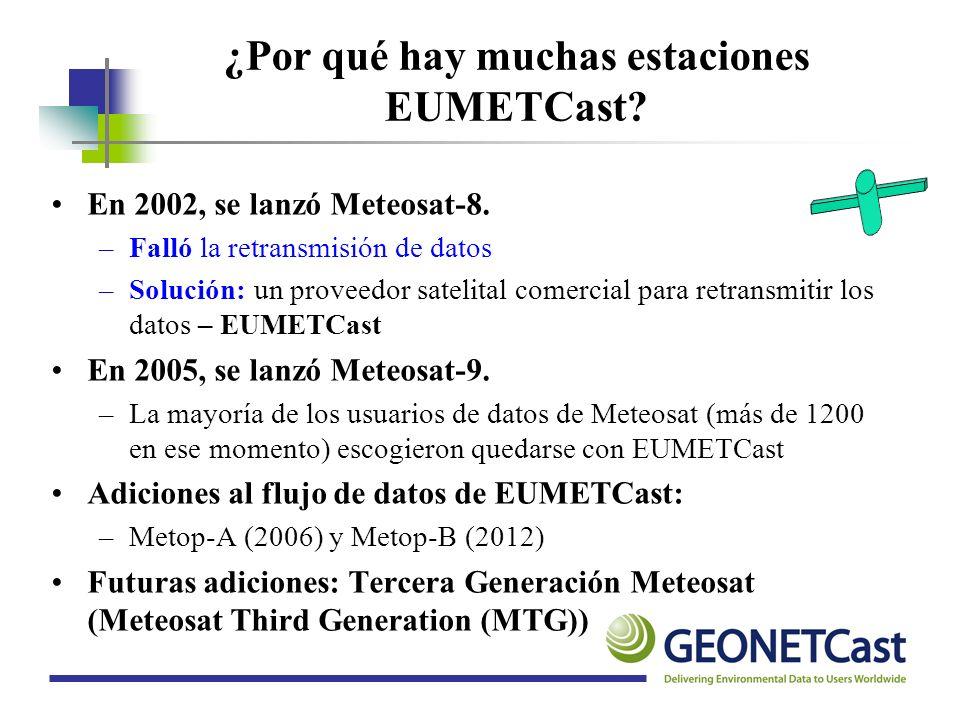 ¿Por qué hay muchas estaciones EUMETCast