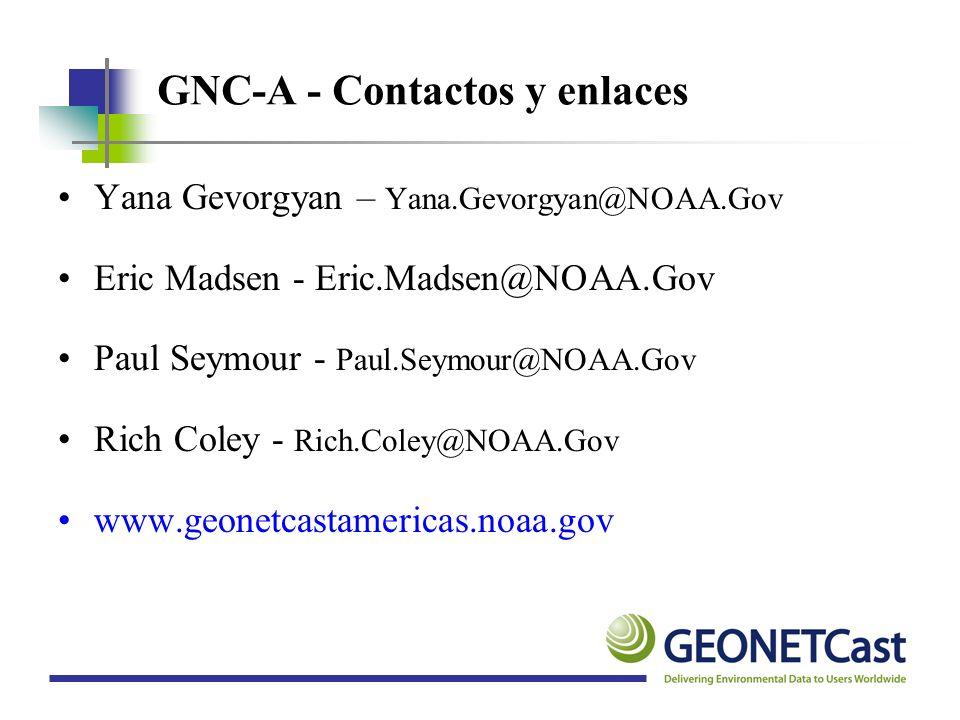 GNC-A - Contactos y enlaces
