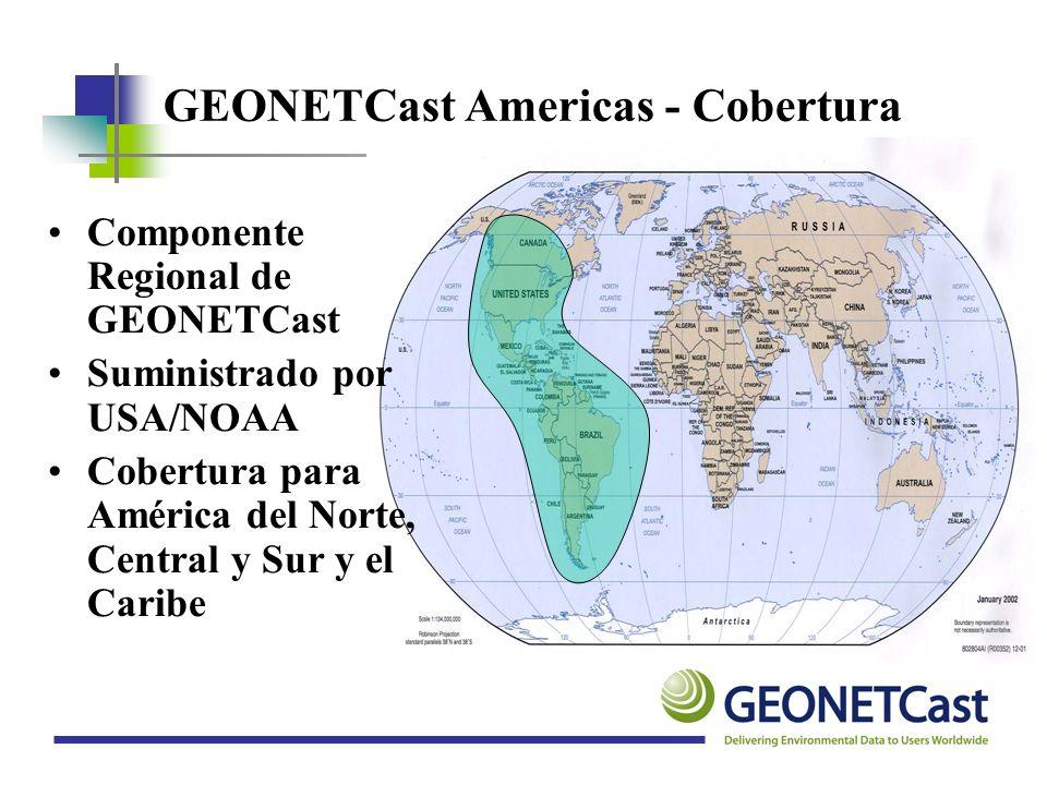 GEONETCast Americas - Cobertura