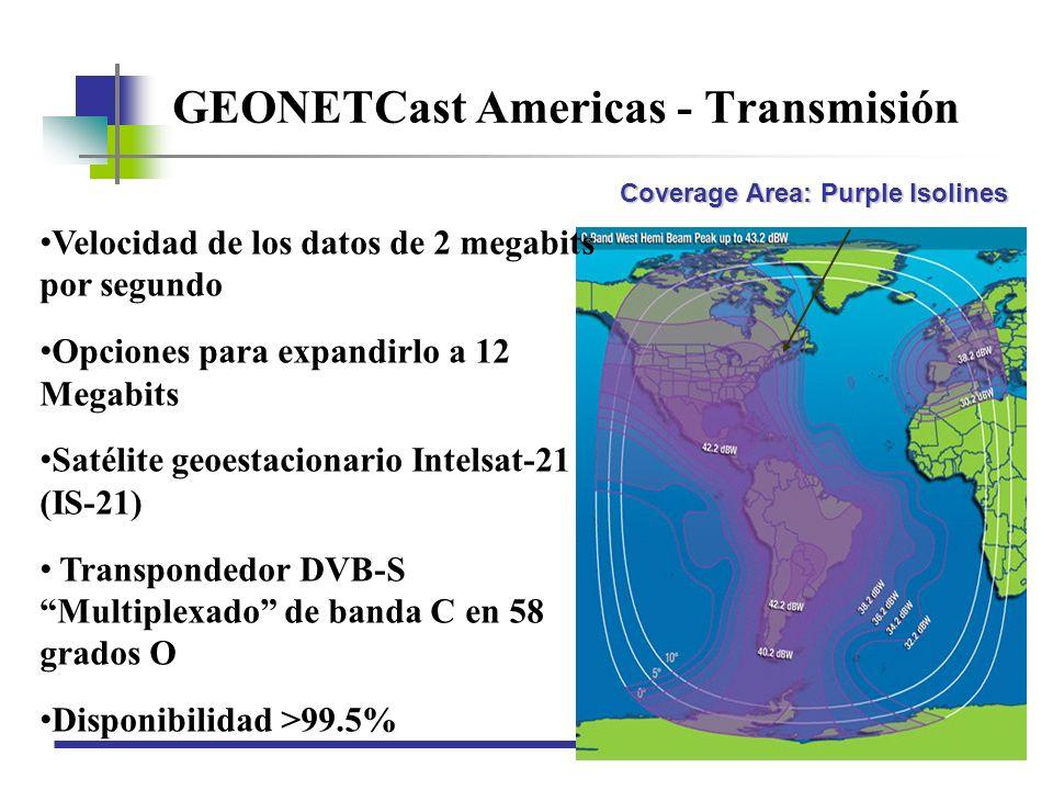GEONETCast Americas - Transmisión
