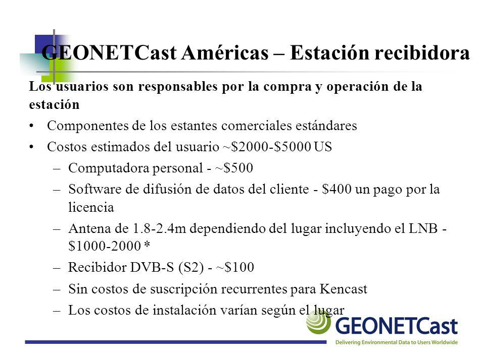 GEONETCast Américas – Estación recibidora